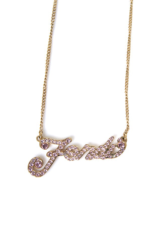 Crystal Script Necklace