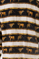Lion and Tiger Print Shirt