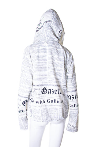 John GallianoGazette Print Windbreaker- irvrsbl