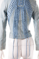 Christian Dior Lace Up Denim Jacket - irvrsbl
