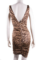 Leopard Print Satin Dress