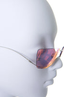 Hologram Sunglasses with Pearl Detail