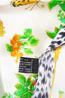 Butterfly and Fruit Print Baroque Scarf