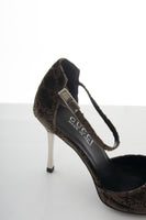 Tom Ford Velvet Monogram Heels