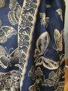 Shawl - Soft Thai Pashmina -Blue Butterflies