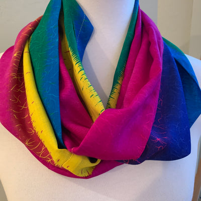 Rainbow - Infinity Scarf with a hidden zipper pocket