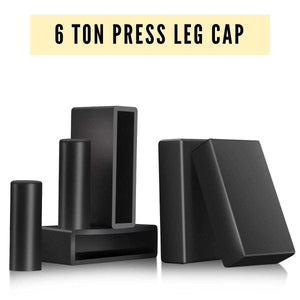 6 Ton Press Leg Protector - 6pc Rubber End Caps to Stop it from Sliding and Scratching