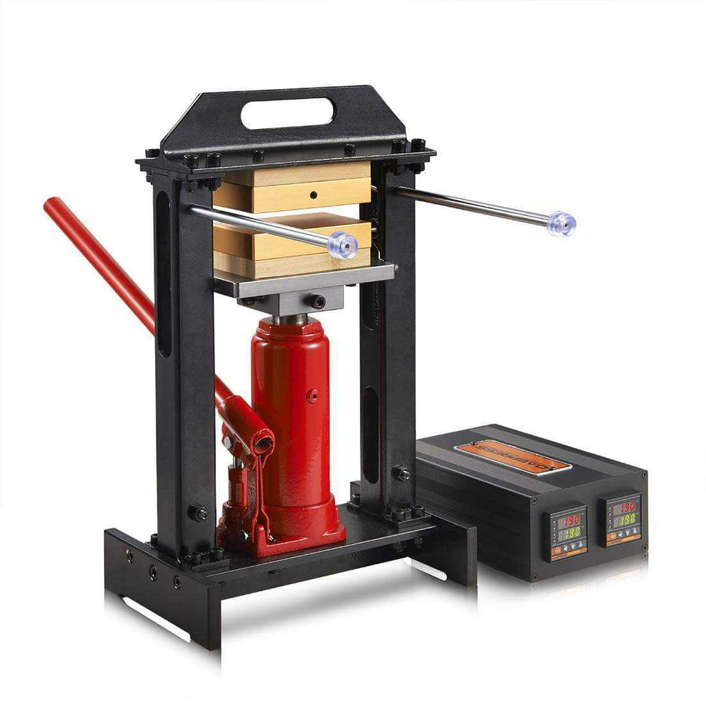 "Personal Rosin Press Including 6-Ton Bottle Jack & 3x5"" Heated Platens"