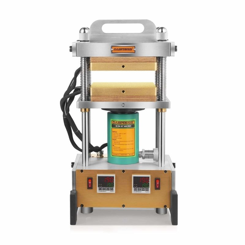 "20 Ton Best Industrial Rosin Press - Durable Frame with 7x7"" Heated Platens and 1,200W Heater"