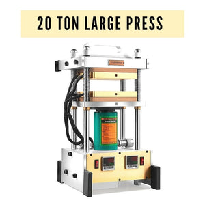 "20 Ton Best Industrial Rosin Press - Durable Frame with 7x7"" Heated Platens and 1,200W Heated Rods"