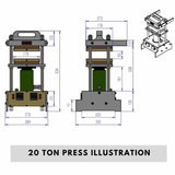 20 Ton Industrial Rosin Press