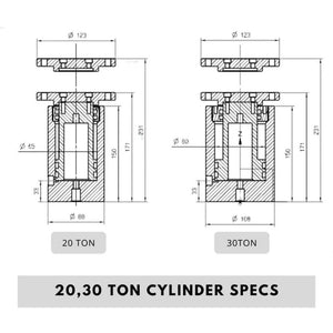 20 30 Ton Rosin Press Cylinder