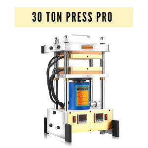 30 Ton Rosin Press - Dual 7x7 Inches Rosin Press Plates and Dual Accurate PID Temp Controllers