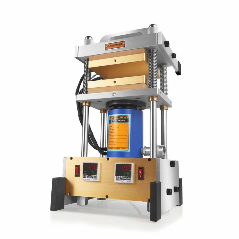 30 Ton Rosin Press - Dual 7x7 Inches Rosin Press Plates and Dual Accurate PID Temperature Controllers