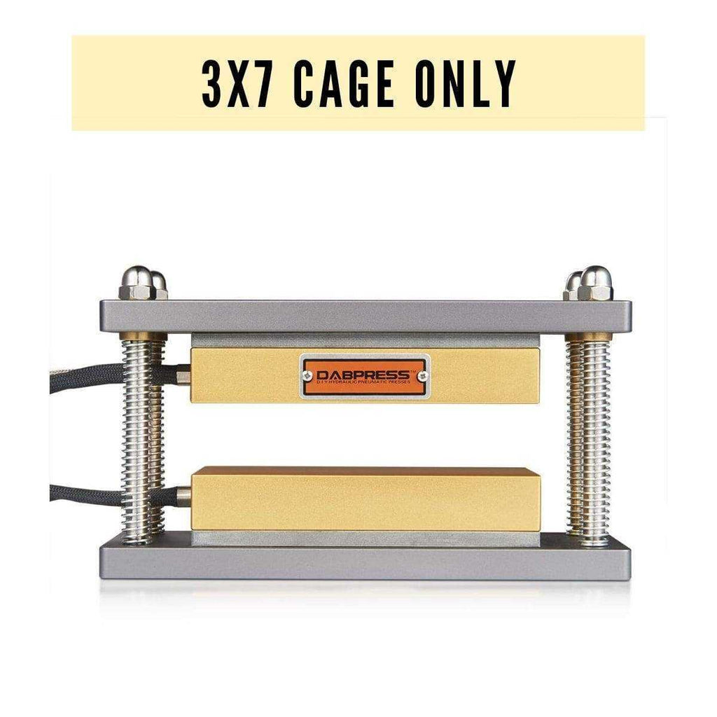 3x7 Rosin Cage Only - Caged Frame Made of Aluminum, 4 Piece Steel Rods - with Heated Platens