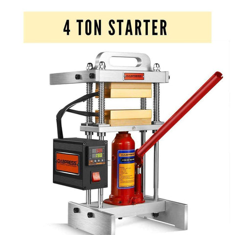4 Ton Starter Rosin Press - 3x5 Heated Platens - 7-10g Materials Loaded - Upgrade from 3-Ton Press