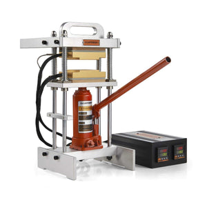 4 Ton Bottle Jack Rosin Press Pro - Dual PID Controller Box & Replaceable 4-ton Bottle Jack