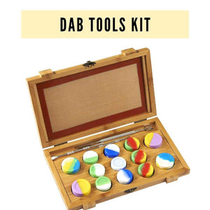 Collection Dab Tools Kit -  13-PC Silicone Containers, 3-PC Collection Tools,1-PC Silicone Mat | Dabpress