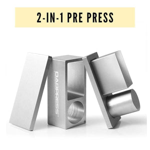 Cannabis Pre Press Mold 2 in 1 Rosin Pre Press Mold - Making Cylinder and Rectangle Puck at A Time - Fits 2x4 Rosin Bags | Dabpress