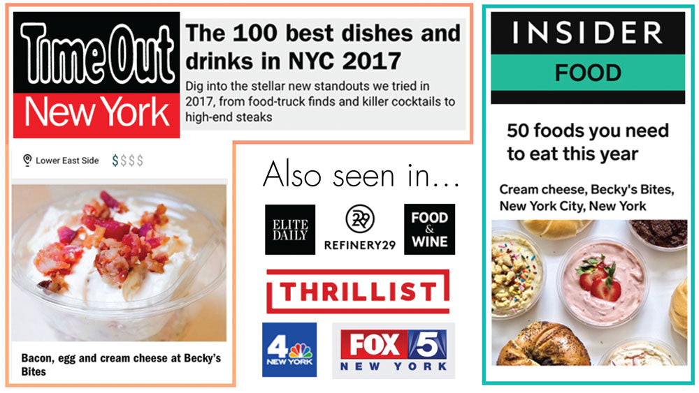 Becky's Bites NYC desserts were featured on