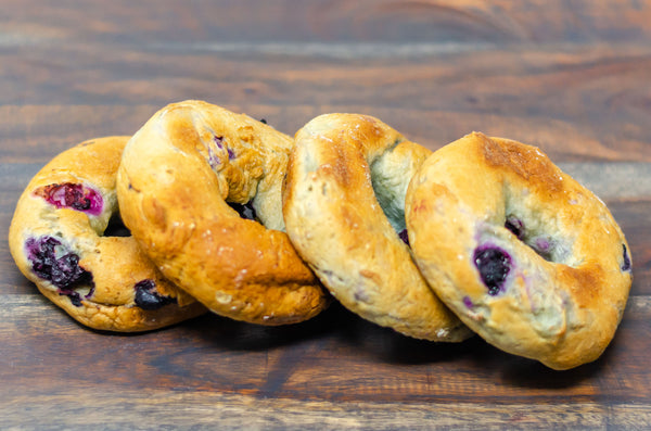 gluten-free and dairy-free blueberry bagel