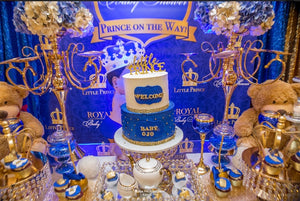 Freehold NJ Royal Prince Cake. Black Owned. Royal Prince Themed Cake. Dessert table