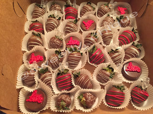 Custom Belgian Chocolate Covered Strawberry Boxes