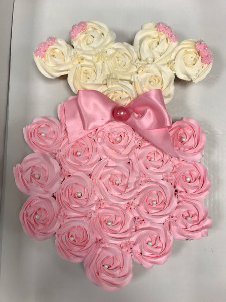 Pink and white Baby Girl cupcake dress