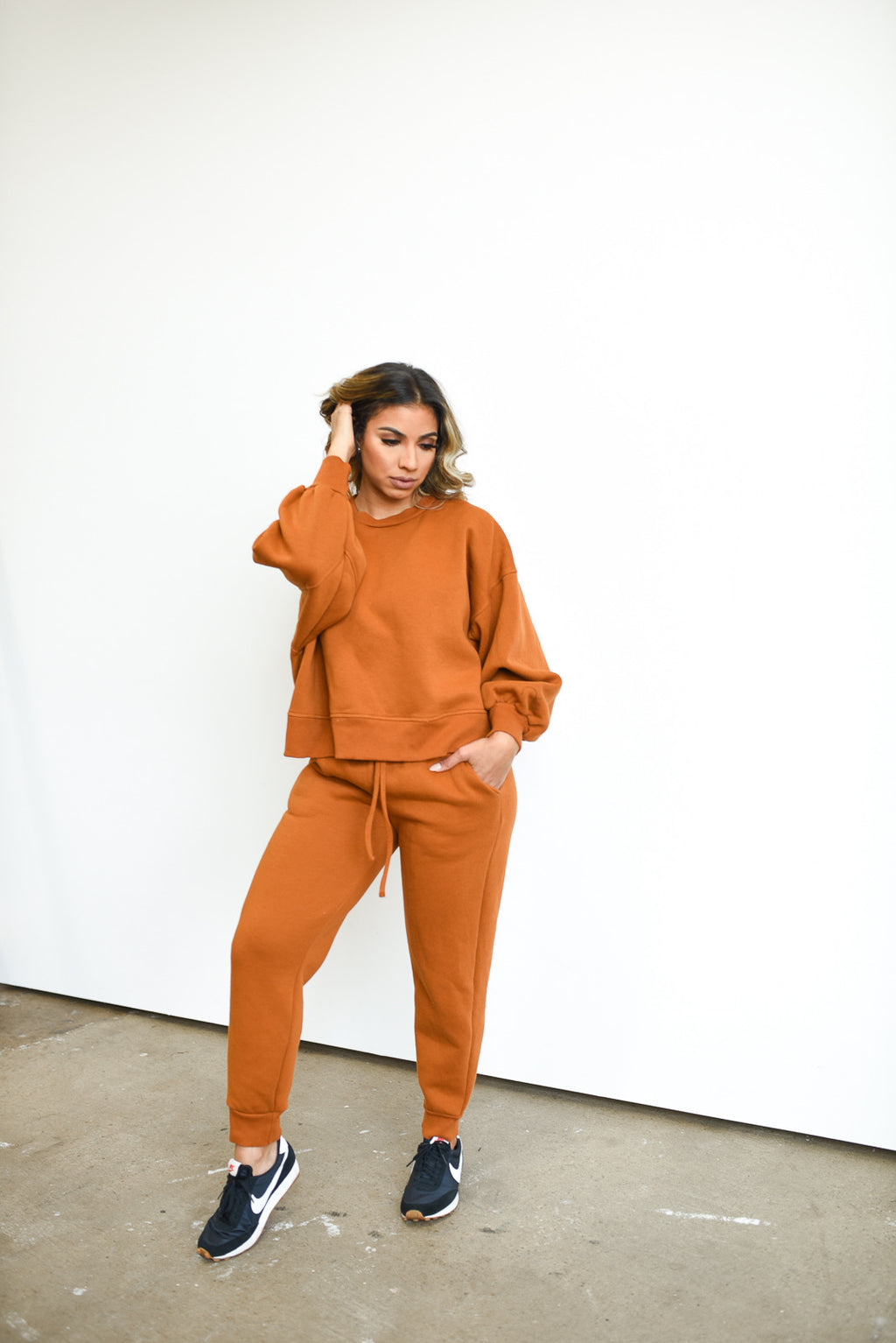 Balloon Sleeved Sweatsuit