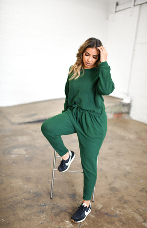 Waffled Sweatsuit Set