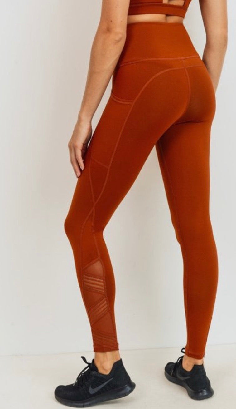 Rust High Waisted Legging