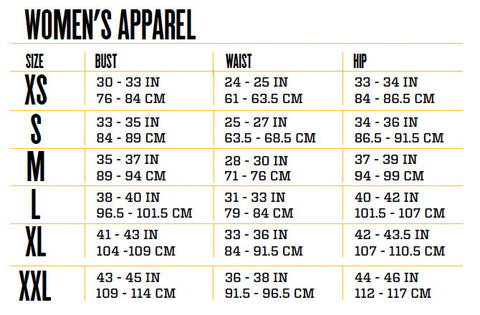 Women Clothing Size