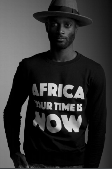 Africa Your Time Is Now Black Sweater