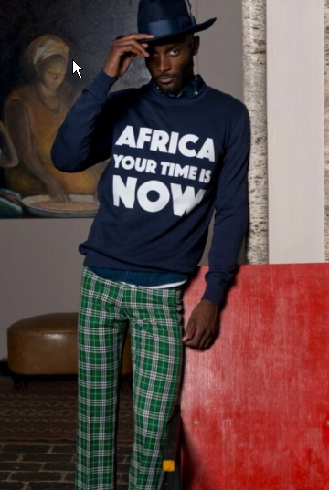 Africa Your Time is now Navy Sweater