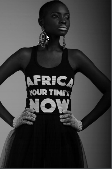 Africa Your Time is now Black Vest Tee