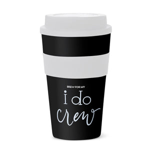 Black I Do Crew 12 oz. Coffee Tumblers