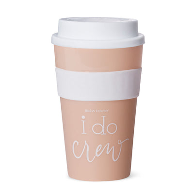 Blush Pink I Do Crew 12 oz. Coffee Tumbler