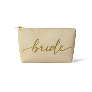 Bride Faux Leather Makeup Bag
