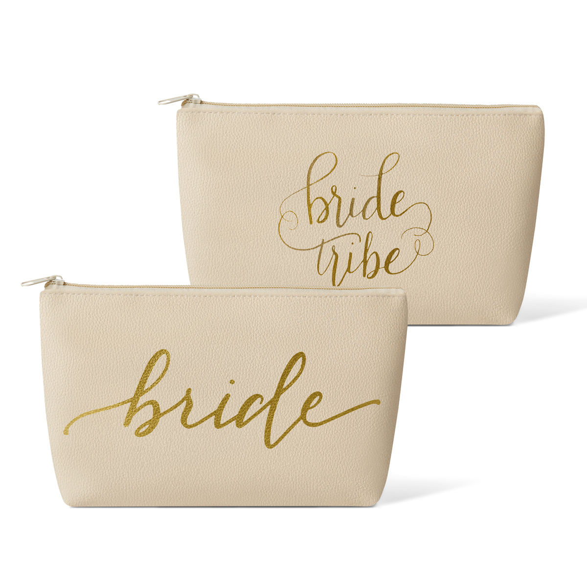 Bride Tribe Faux Leather Makeup Bag