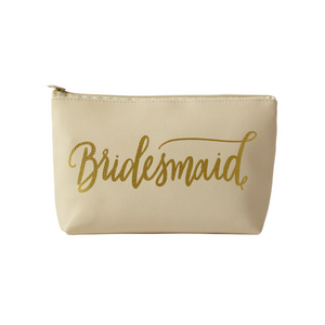 Bridesmaid Faux Leather Makeup Bag