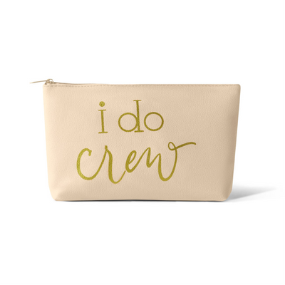 I Do Crew Faux Leather Makeup Bag