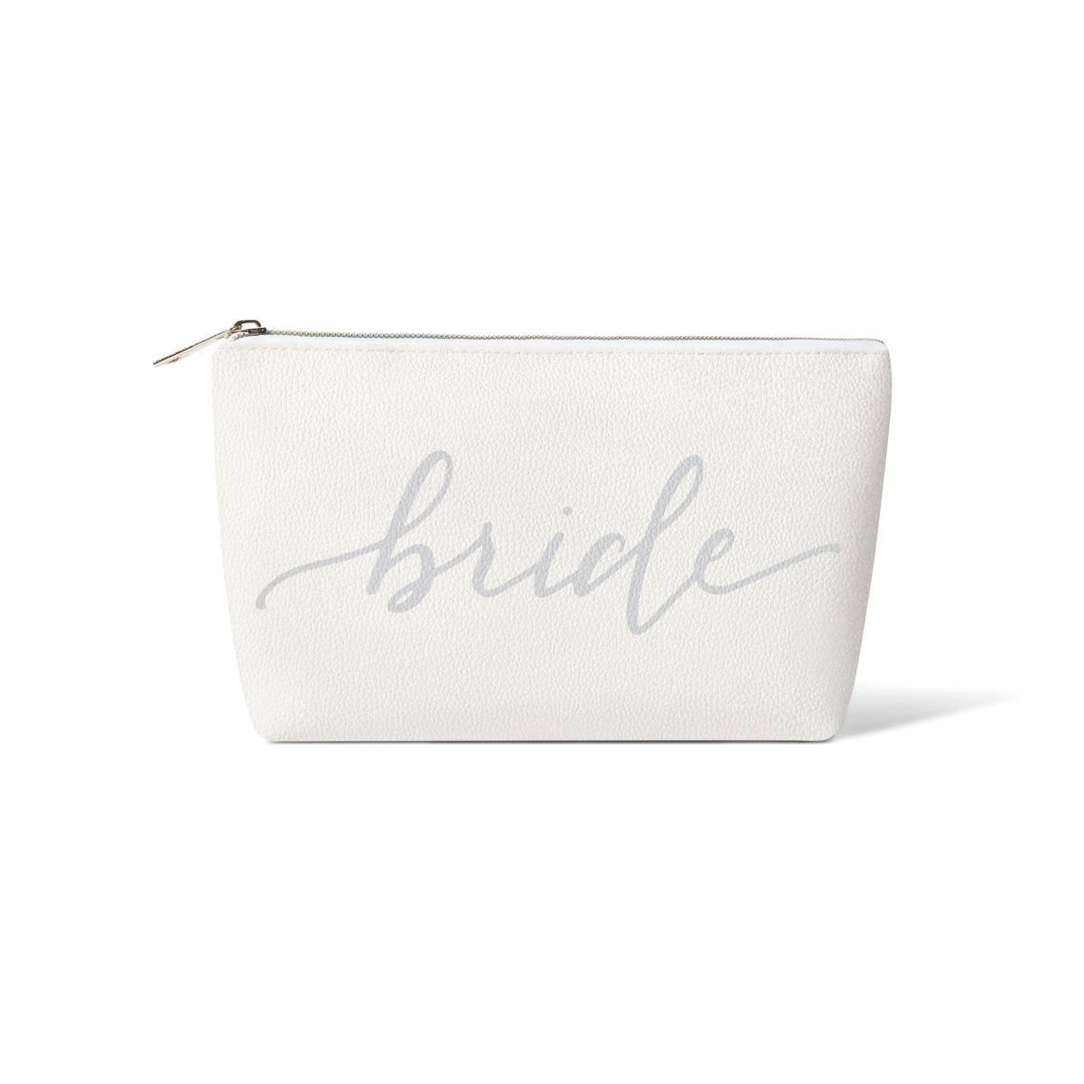 Grey Bride Tribe Faux Leather Makeup Bag