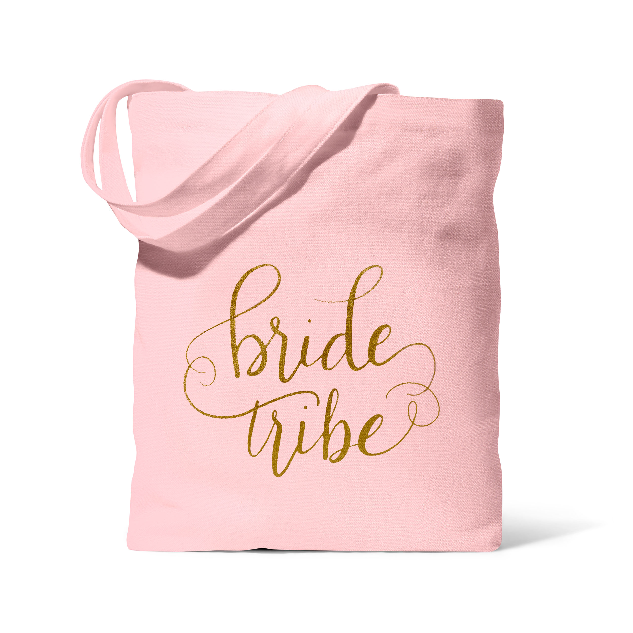 Pink Bride Tribe Canvas Beach Tote Bag