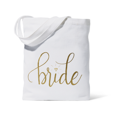 Bride Canvas Beach Tote Bag