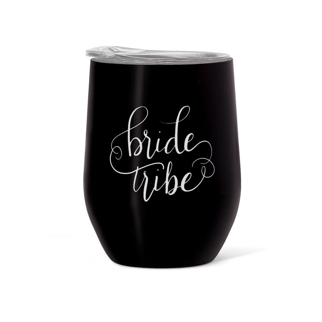 Stainless Steel Bride Tribe/I Do Crew Wine & Coffee Tumblers (16 oz)