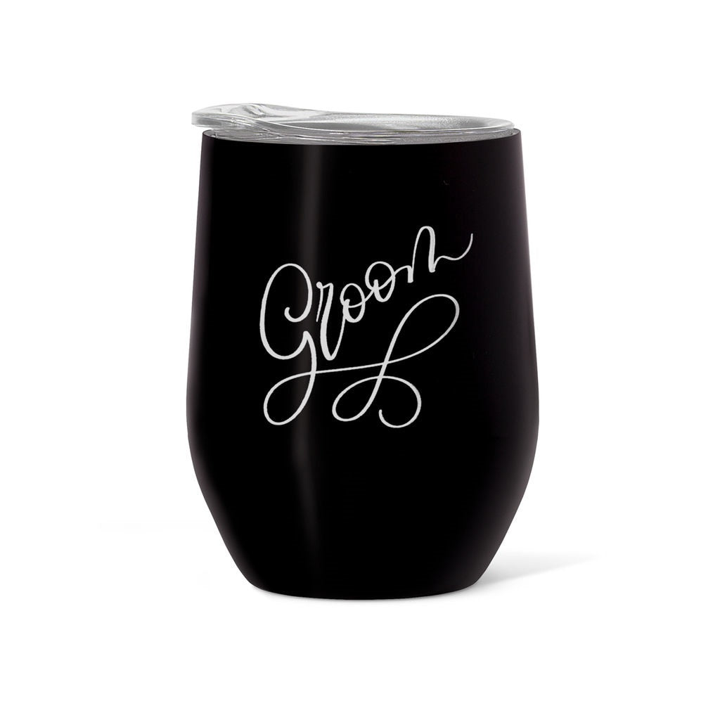 Bride & Groom Stainless Steel Wine & Coffee Tumblers (16 oz)