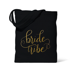 Black Bride Tribe Canvas Beach Tote Bag