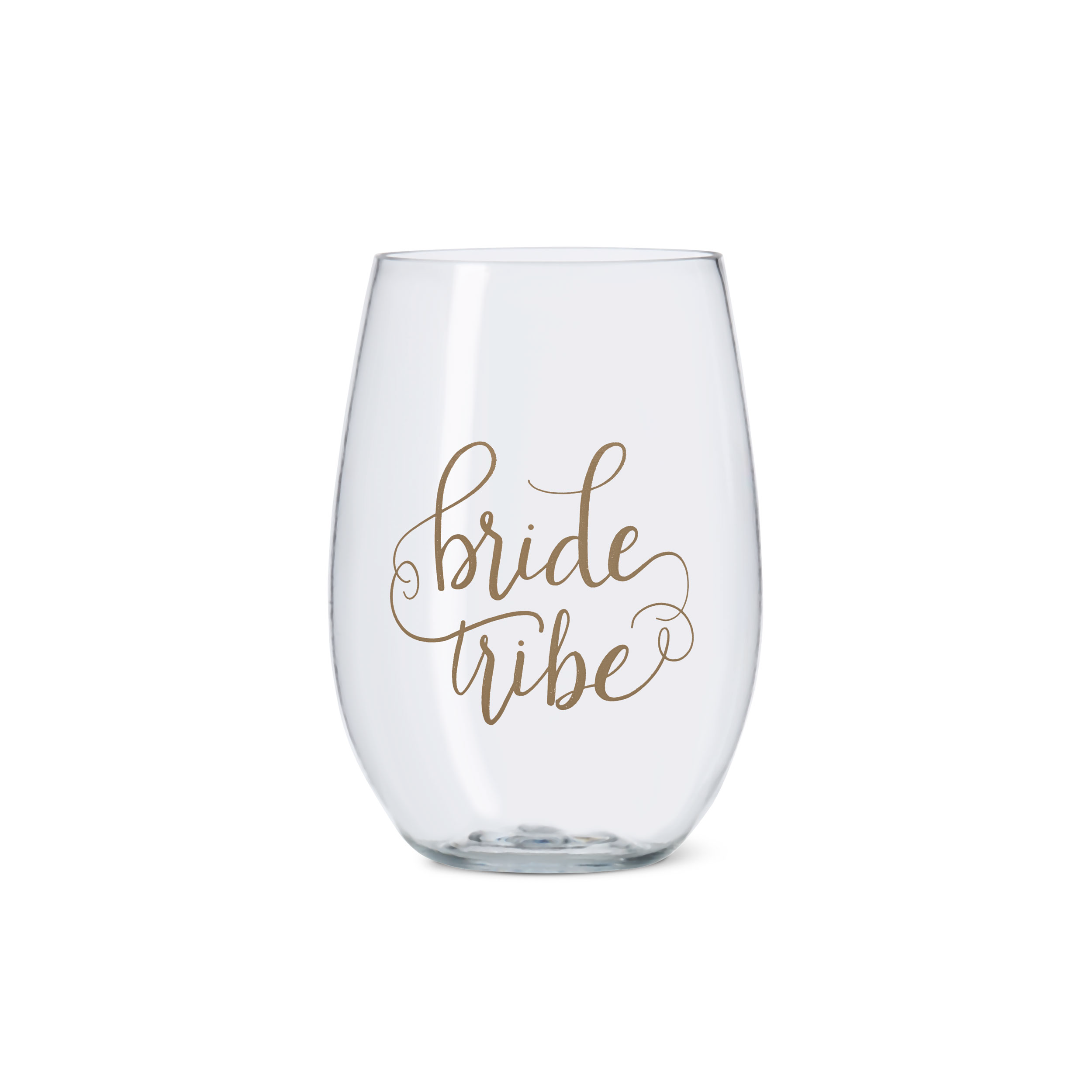 Bride Tribe and Bride Durable Plastic Stemless Wine Cups