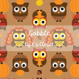 Gobble, custom printed fabric by the yard, preorder