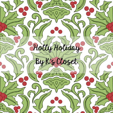 Holly Holiday, custom fabric RETAIL